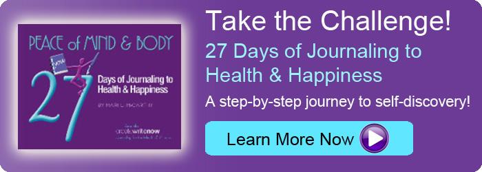 Journaling 27 Days Blog Banner
