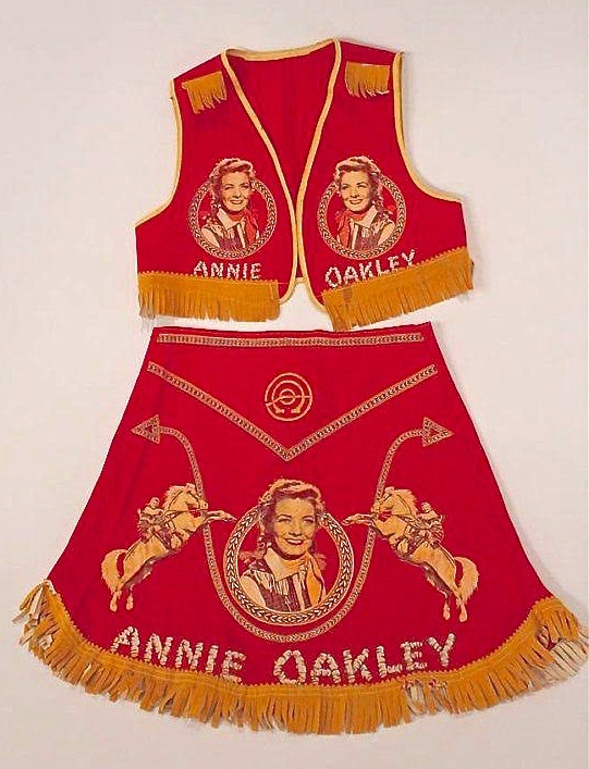 Photo of an Annie Oakley Costume - red vest and matching skirt.jpg