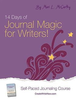 14 Days of Journal Magic for Writers - Self paced Journaling Course - eBook Cover